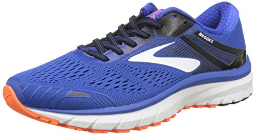 Brooks Adrenaline GTS 18, Chaussures de Running Homme, Bleu (Blue/Black/Orange 1d420), 42.5 EU