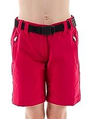 & # xfeff; CMP walks hort Bermuda-Pantalones cortos pantalones Rosa Cinturón bolsillos Stretch Talla 1283t51145m