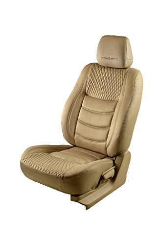 Elegant Veloba Crescent Beige Fabric Car Seat Cover for Mahindra KUV 100 K8