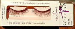 ARTMATIC Imported 1 Pair Black Natural Thick Long False Eyelashes with Adhesive - 518-005
