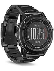 Garmin fēnix 3 HR Saphir GPS-Multisportuhr - mit Armband aus Titan und DLC-Beschichtung, Herzfrequenzmessung am Handgelenk, zahlreiche Sport- & Navigationsfunktionen