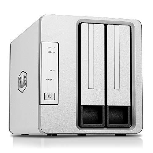TerraMaster F2-210 2-Bay NAS Quad Core Raid Gehäuse Medienserver persönliche Cloud-Speicherung (ohne Festplatte)