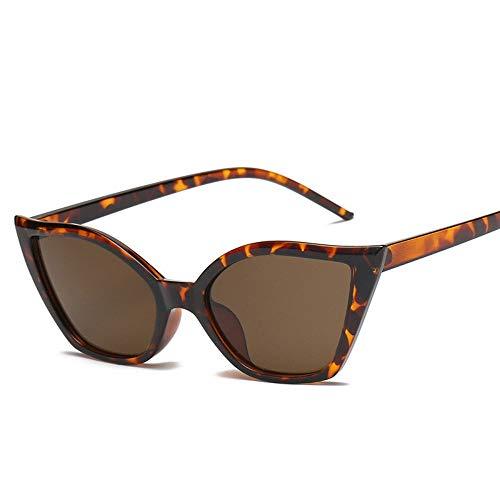 ZHOUYF Sonnenbrille Fahrerbrille Sexy Cat Eye Sonnenbrillen Frauen Markendesigner Vintage Schwarz Rot Leopard Rahmen 90 S Retro Cateye Sonnenbrille Shades, C.