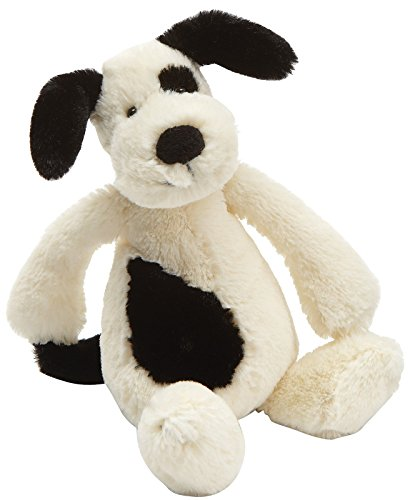 Image of Jellycat - Bashful Black and Cream Puppy Dog - Small