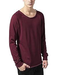 Urban Classics Herren Sweatshirt Long Open Edge Terry Crewneck