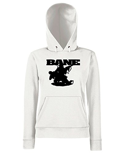 T-Shirtshock - Sweats a capuche Femme FUN0689 bane band vinyl decal stickers 26773 Blanc