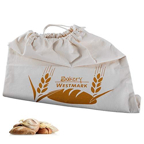 Westmark Pan Bolsa/Bolsa con Cordón, 100% algodón, para el Panera, 38x 45cm, Blanco Natural, 32102270...