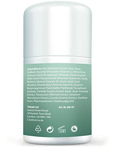 Bionura Retinol Feuchtigkeitscreme Creme mit 2,5% Retinol, 15% Vitamin C & 5% Hyaluronsäure – Der effektivste Natürliche Anti Aging & Anti Falten Retinol Feuchtigkeitsbehandlung ohne die irritierenden Nebenwirkungen. 50 ml - 7