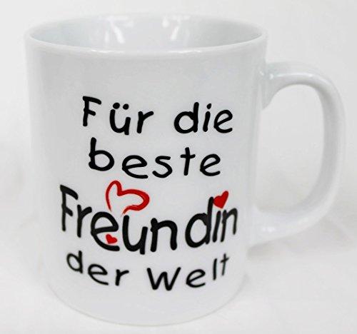 Tasse - Für die beste Freundin der Welt - Kaffee Kaffeetasse Geschenk Valentinstag (Valentinstag-beste Freundin)