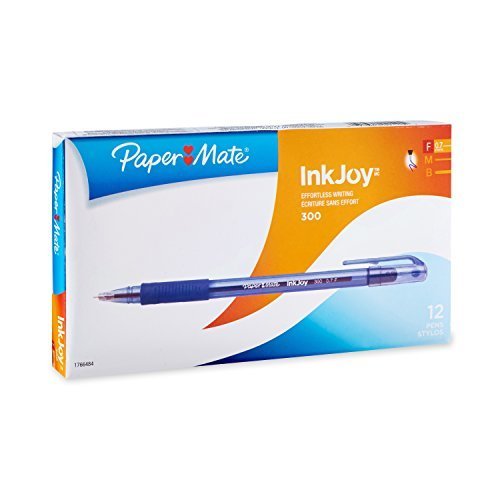 paper-mate-inkjoy-300-ballpoint-pen-capped-blue-fine-07-mm-single-by-paper-mate