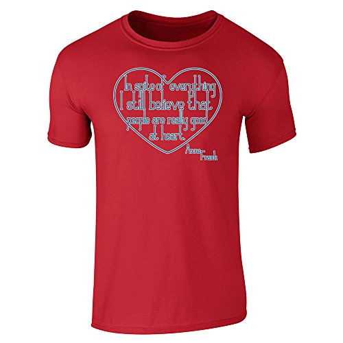 Pop Threads Mens I Still Believe People Good At Heart Anne Frank Short Sleeve T-Shirt