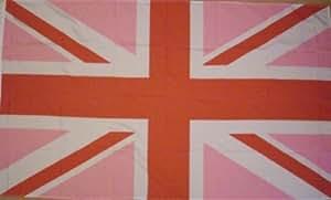 Gay Pride Pink und Rot mit Union-Jack-Sleeve Boat und Kratzmöglichkeiten, Flagge, 45 cm x 30 cm