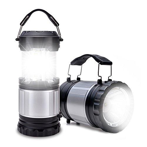 Odoland camping lanterna con la torcia elettrica, 2-in-1 300 lumen led portatile work light - miglior ingranaggi per tende, trekking, pesca e di emergenza