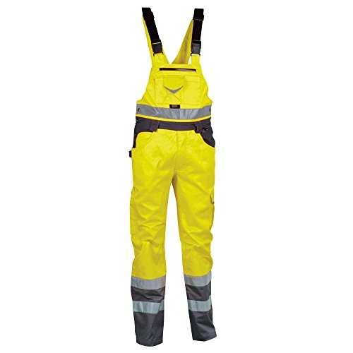 Cofra Warnschutz Latzhose Spark V072-00 Arbeitshose in Signalfarbe gelb Gr. 44