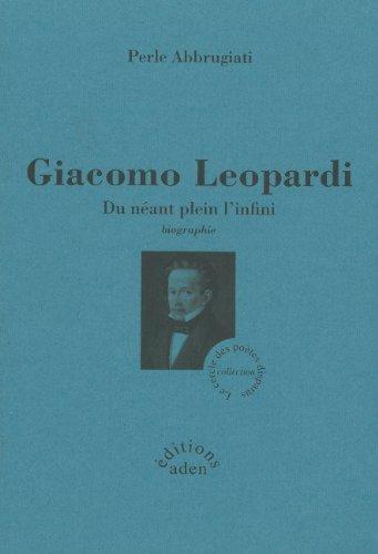 Giacomo Leopardi : Du néant plein l'infini