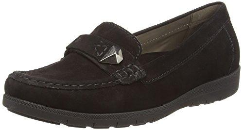 Gabor Shoes Damen Casual Mokassin, Schwarz (17 Schwarz), 37.5 EU (Schwarzer Mokassin)