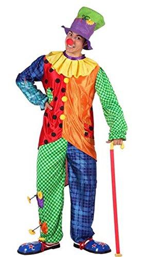(Kostüm lustiger Clown Narr Faschingskostüm Herren, Größe:XL)