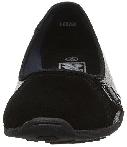Spot On F80260, Ballerines femme Noir (noir)