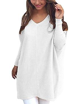 Suéter De Cuello V Mujer Jerséis