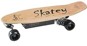 Skatey Skateboard longboard électrique en bois pour enfant 150 W