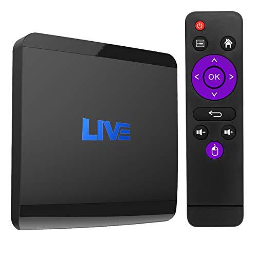 Internationaler Fernsehempfänger Android 7.1IPTV mit lebenslangem Abonnement für 1500+ globale Live-Kanäle einschließlich arabischer nordamerikanischer europäischer asiatischer Programme (2GB + 16GB)