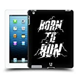Head Case Designs Born to Run Fitness Typographie Ruckseite Hülle für iPad 3 / iPad 4