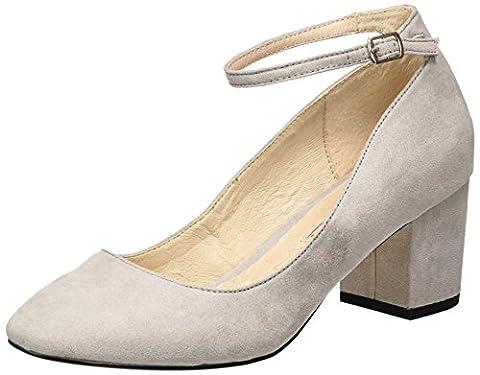 Buffalo Shoes 15p54-1 Imi Suede, Escarpins Femme, Gris (Grey 17), 38 EU