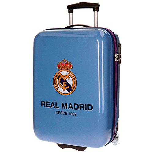 Real Madrid Club Equipaje Infantil, 55 cm, 34 Litros, Morado