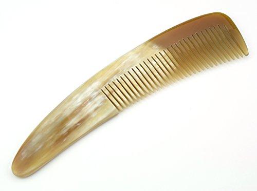 Peigne en véritable corne naturelle - Manche courbe