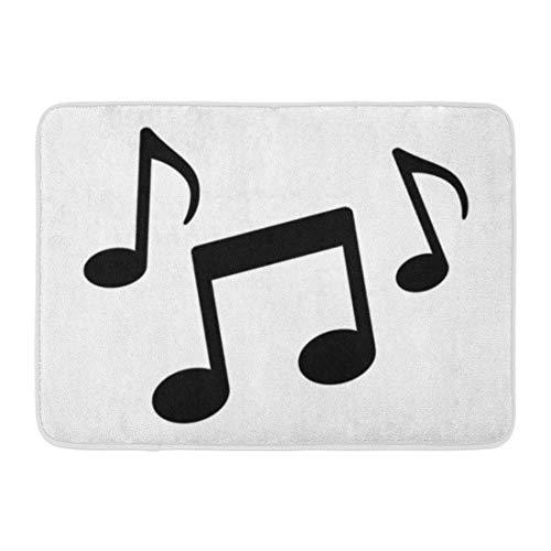 Paillassons Tapis de bain Tapis de porte extérieur / intérieur Radio Notes de musique Song Melody Tune Flat pour applications et sites Web musicaux Notation de salle de bains Tapis de bain Tapis de Ba