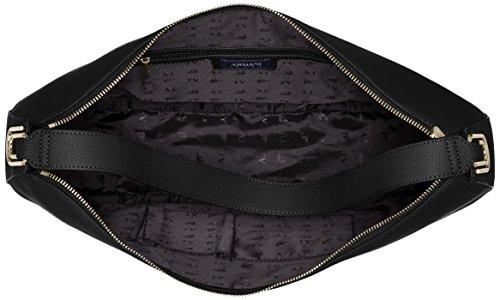Armani Jeans Damen Borsa Hobo Schultertasche, 31 x 10 x 43 cm Schwarz (Nero)