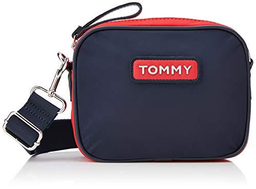 Tommy Hilfiger Damen Varsity Nlyon Crossover Umhängetasche, Blau (Corporate), 21x6x16 cm
