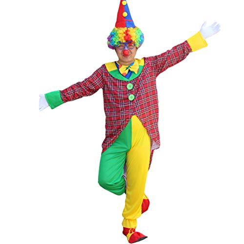 Haobing Unisex Clown-Kostüm Fasching Halloween Karneval Kostüm Cosplay Maskerade Fancy Dress (ZC-025, CN 4XL)
