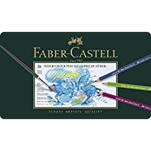 Faber-Castell 117536 - Estuche de metal con 36 ecolápices acuarelables, multicolor