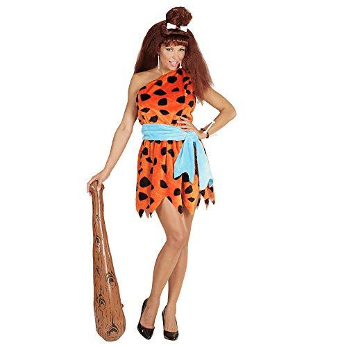 Widmann 05783 - Erwachsenenkostüm Stoneage Woman, Kleid, Gürtel, Größe - Feuerstein Kostüm Für Erwachsene