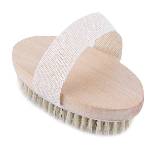 Luckiests Trockene Haut Körper Bürste mit Naturborsten Weiche SPA Bürste Bad Massage Startseite -