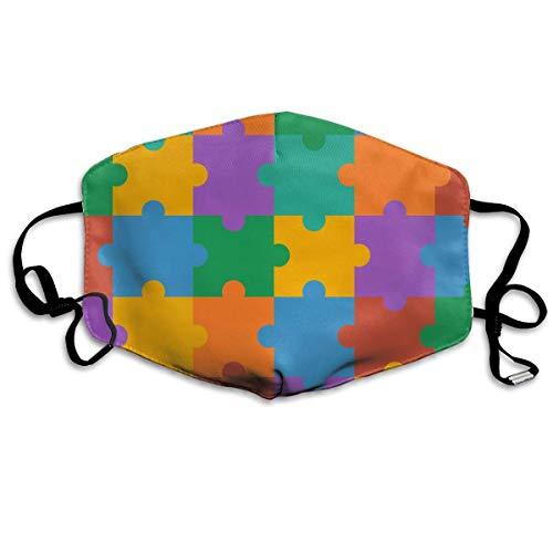Masken, Masken für Erwachsene, Puzzle Pattern Colorful Reusable Anti Dust Face Mouth Cover Mask Protective Breath Healthy Safety (Erwachsene Halloween Puzzles Für)