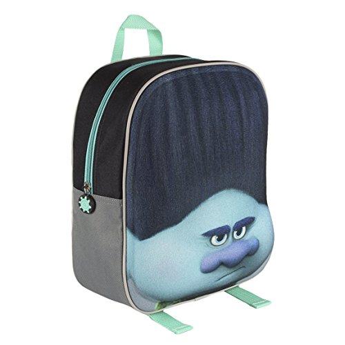 d781cbae83 Trolls 2100001572 31 cm effetto 3D volto ramo blu Junior zaino