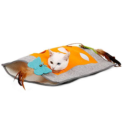 Plumas PlumasTúneles Gatos Con GatoJuego Mascotas De Juguete Mujer Para Juguetes Túnel Womdee Y Tubos trQdhsCx
