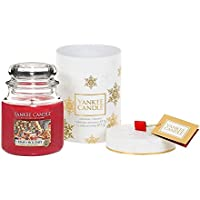 Yankee Candle The Perfect Christmas Jar Candle Gift Set, Red, 11 x 11 x 14.5 cm