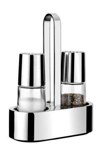 Pinti 2-tlg. Menage Salz- und Pfefferstreuer Serie Bella Glas/Edelstahl