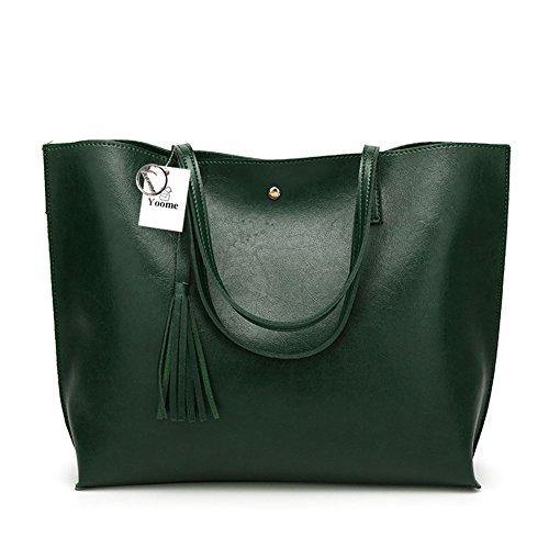 Borsa a tracolla per borsa a tracolla Messenger Yoome Donna Top Handle - Borsa a tracolla verde