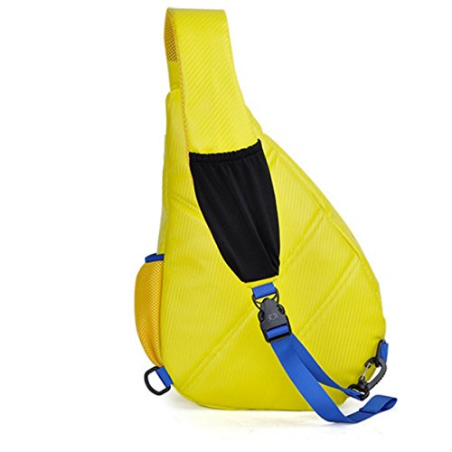 Männer Und Frauen Schulter Brust Pu Rucksack Messenger Bag Yellow