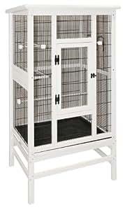 Kerbl Vogelvoliere aus Holz 82,5 x 67 x 152 cm