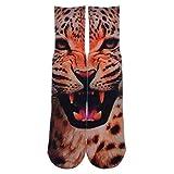 GSYDWZZH Calcetines 3D 5pcs 3D Wild Leopard Print Rock Style en Calcetines Altos de Rodilla Calcetines Elite