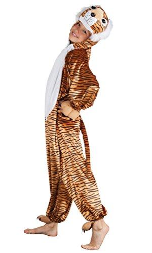 ,Karneval Klamotten' Kostüm Tiger Bageera Plüsch Junge Mädchen Karneval Tier Kinderkostüm Größe (Themen Tiger Kostüm)
