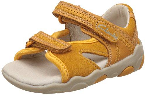 Clarks Boy's Yellow First Walking Shoes - 4 kids UK/India (20 EU)