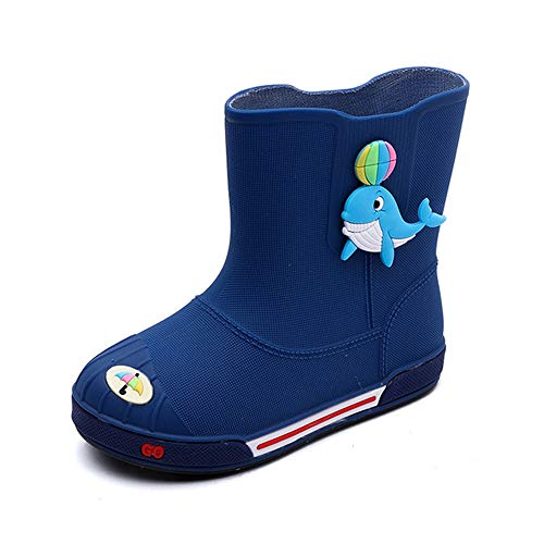 Kids Classic Cartoon Rain Boot, Wasserdicht Water Shoes, Slitran Lightweight, Easy On for Little Children es & Toddler, Boys & Girls Patterns,Purple,15CM Purple Rain Boot