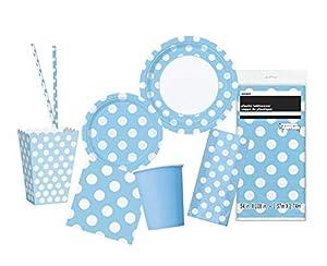 Unique Party- Party Kit, Color azul claro (63822)