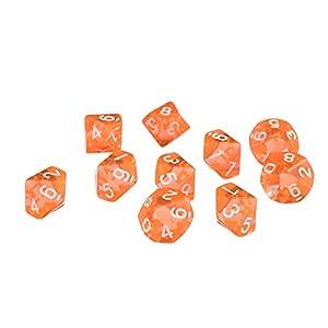D10 Diez Juegos de Dados Plástico para RPG Dungeons & Dragons Games